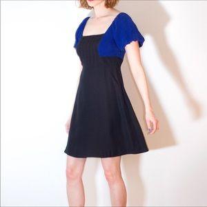 Moulinette Soeurs Black Blue Bolero Dress Women 10